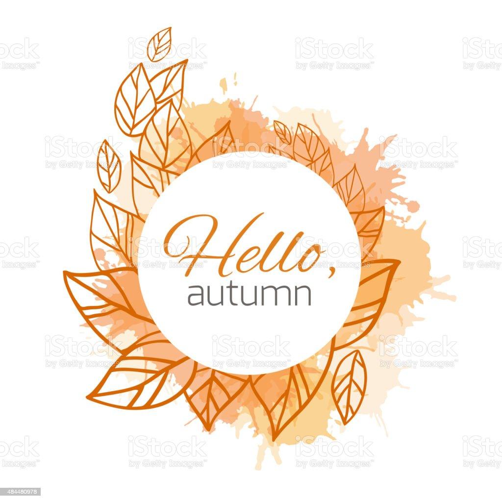 Autumn vector cover vector art illustration