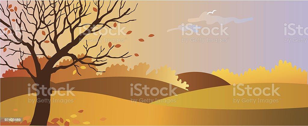 Autumn vector art illustration