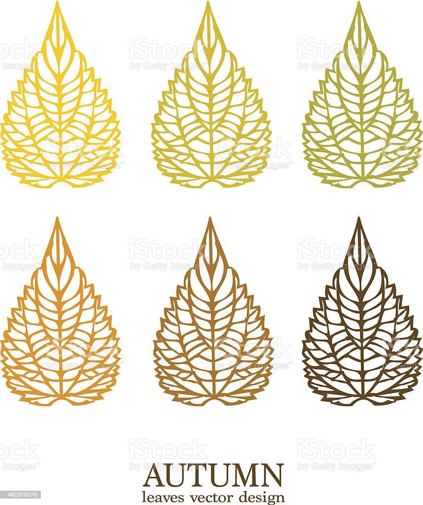 Autumn vector leaves vector art illustration