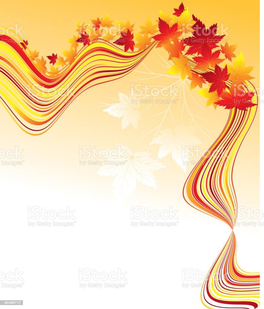 autumn wave royalty-free stock vector art