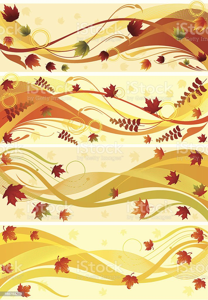 Autumn Wave.../Autumn Banner.. royalty-free stock vector art