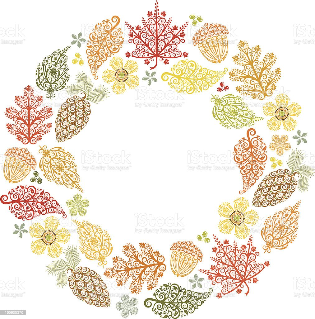 Autumn Wreath royalty-free stock vector art