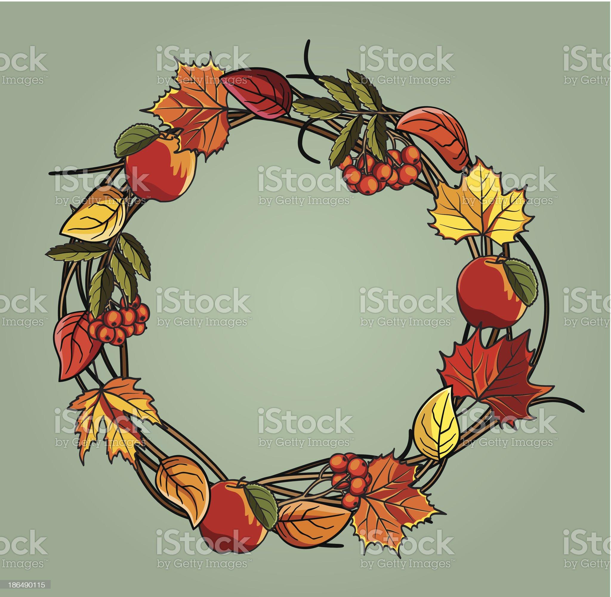 Autumn wreath royalty-free stock vector art