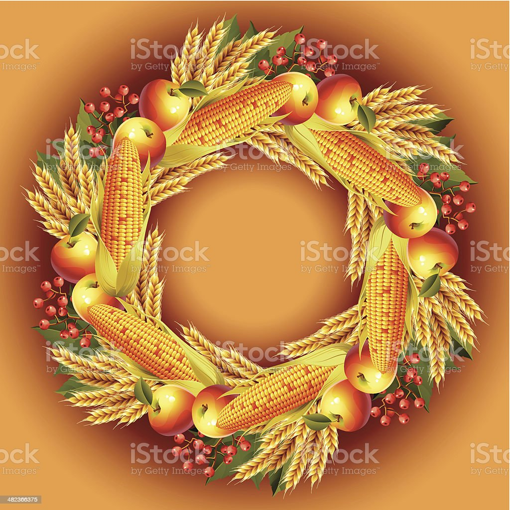 Autumn wreath. royalty-free stock vector art