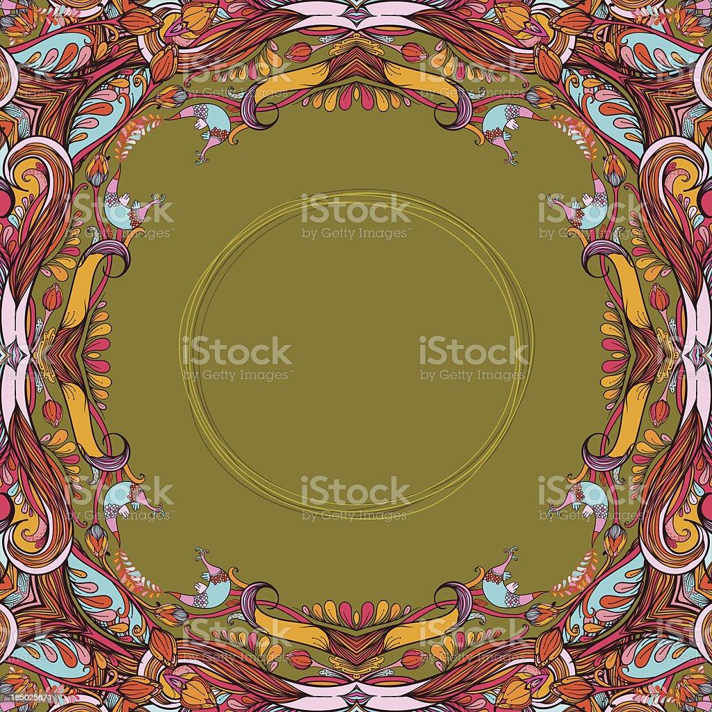 Autumn_circle royalty-free stock vector art