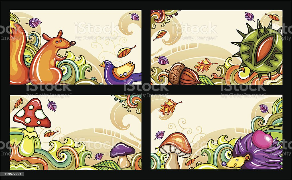 Autumnal cards series 1 royalty-free stock vector art