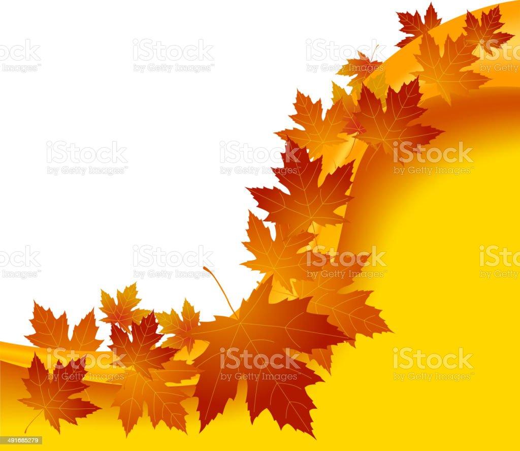 Fondo de concepto Autumnal illustracion libre de derechos libre de derechos
