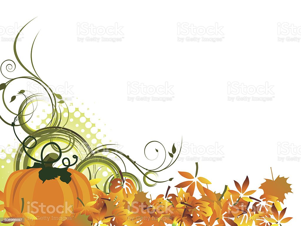 Autumnal design vector art illustration