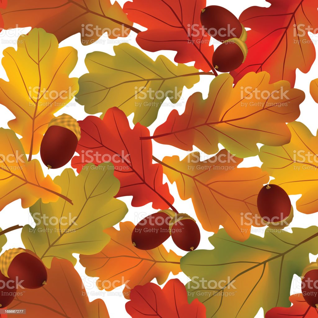 Autunm seamless background royalty-free stock vector art