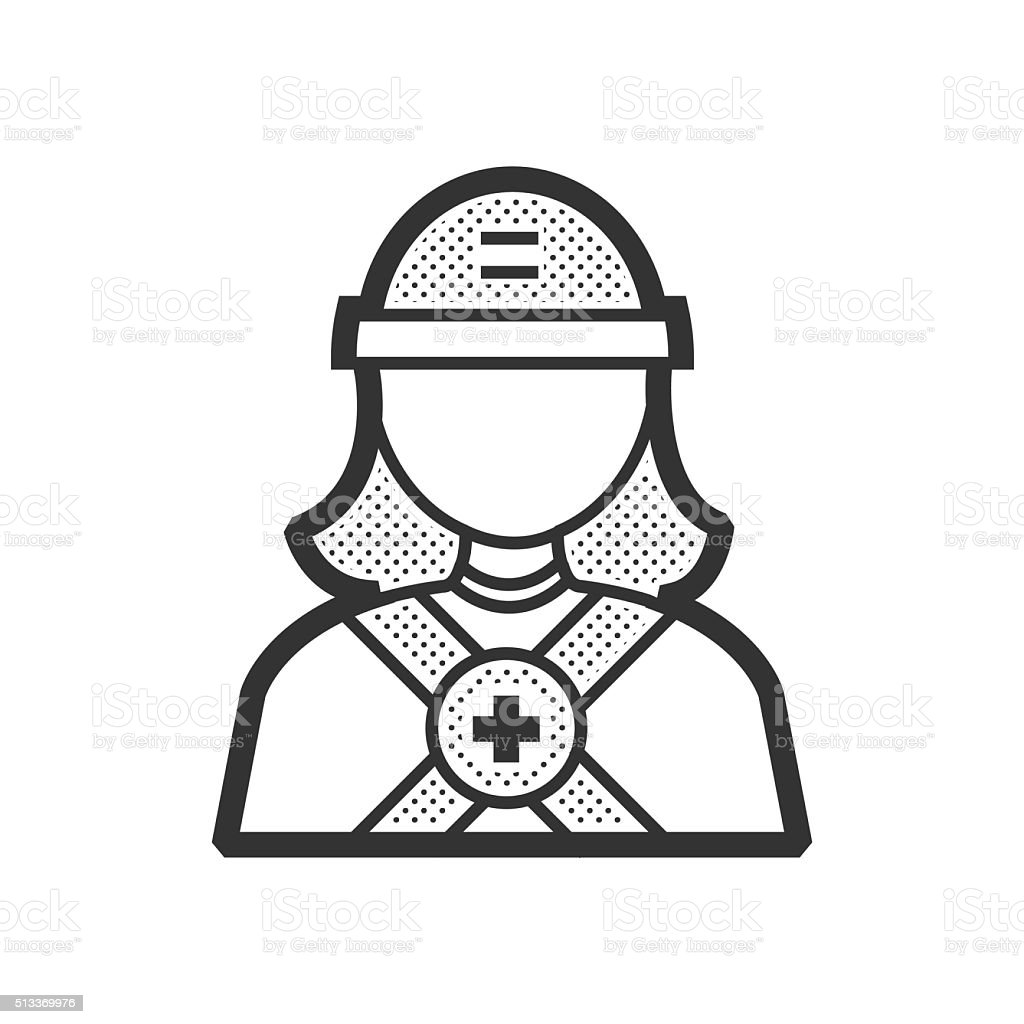 avatar  design Rescuers, Medical woman vector art illustration