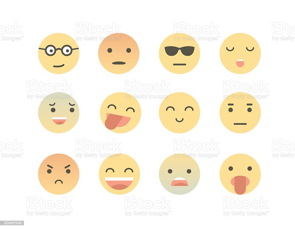 Avatar, Emoji.Smile vector art illustration