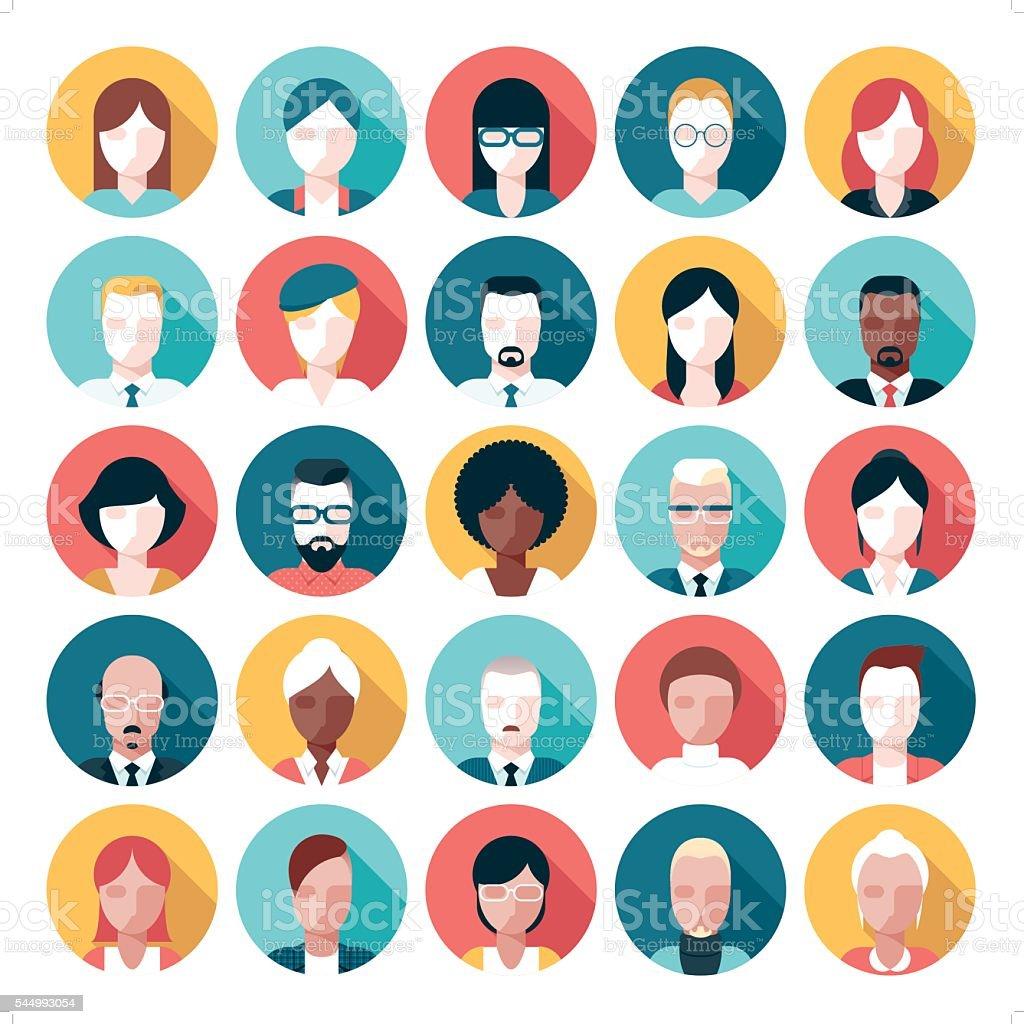 avatar icon set vector art illustration
