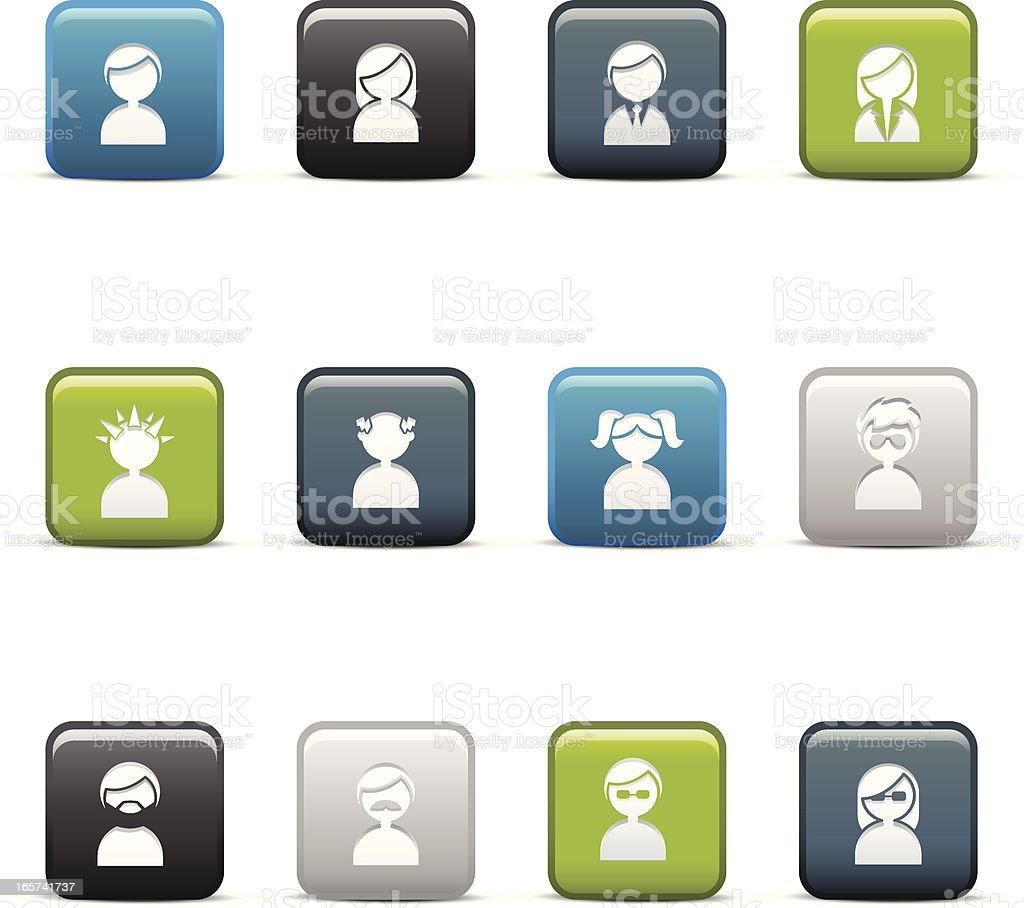 Avatar Icons vector art illustration