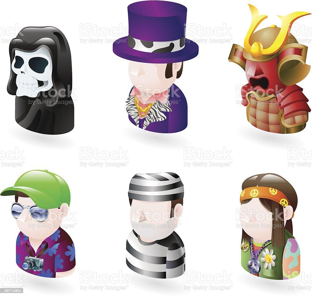 avatar people internet icon set royalty-free stock vector art