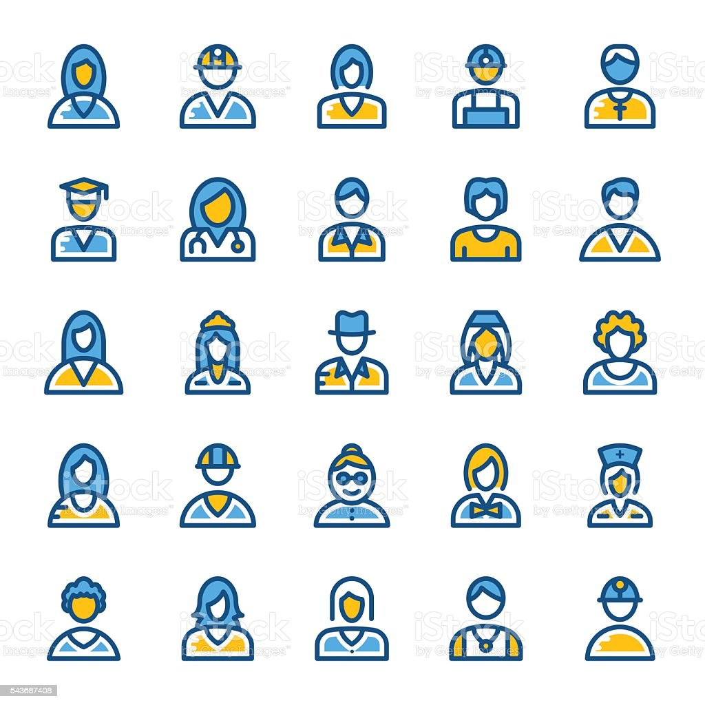 Avatar Vector Icons 1 vector art illustration