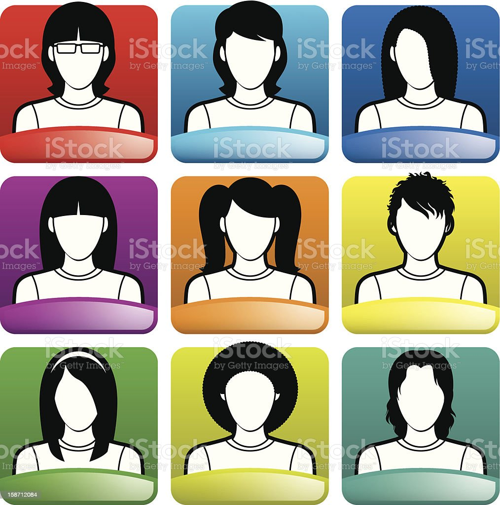 Avatar | Woman royalty-free stock vector art