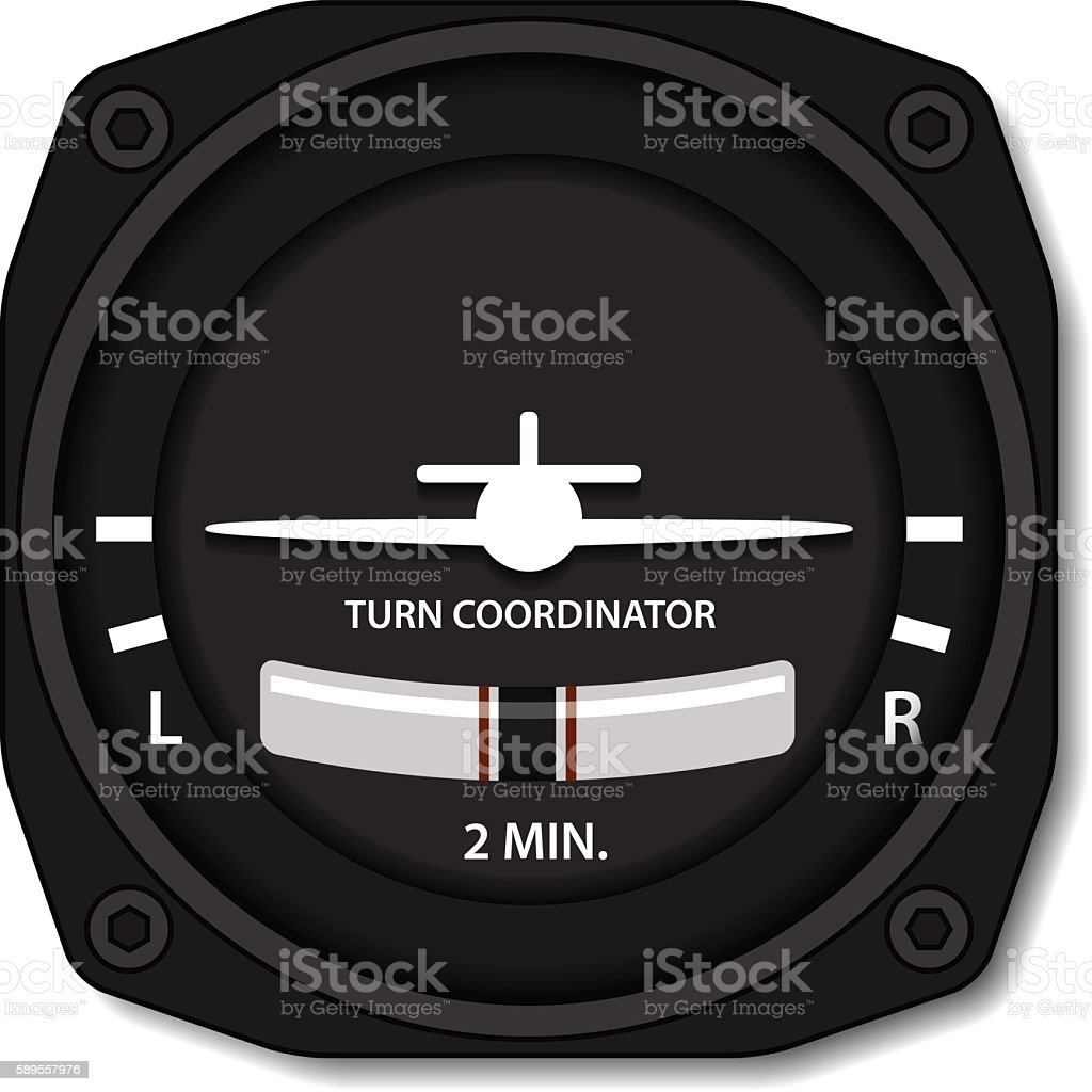 aviation airplane turn balance indicator vector art illustration