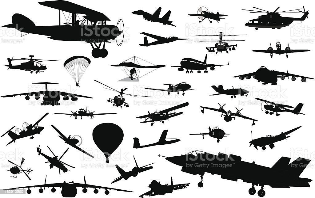 Aviation vector art illustration