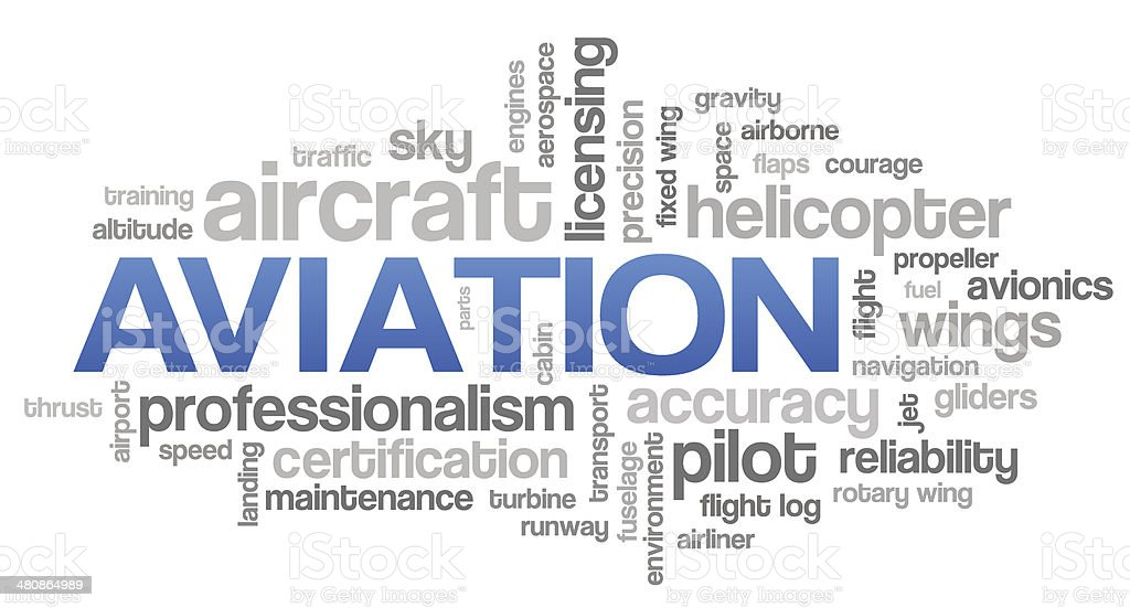 Aviation Word Cloud Blue Bubble Tags Tree Vector vector art illustration