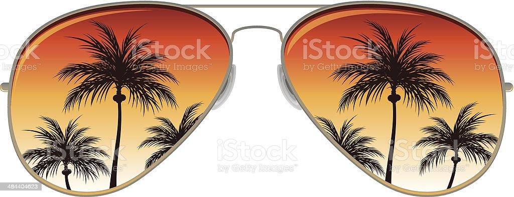Aviator Sunglasses royalty-free stock vector art