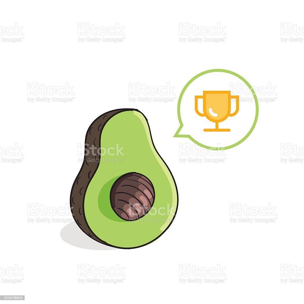 Avocado vector illustration vector art illustration