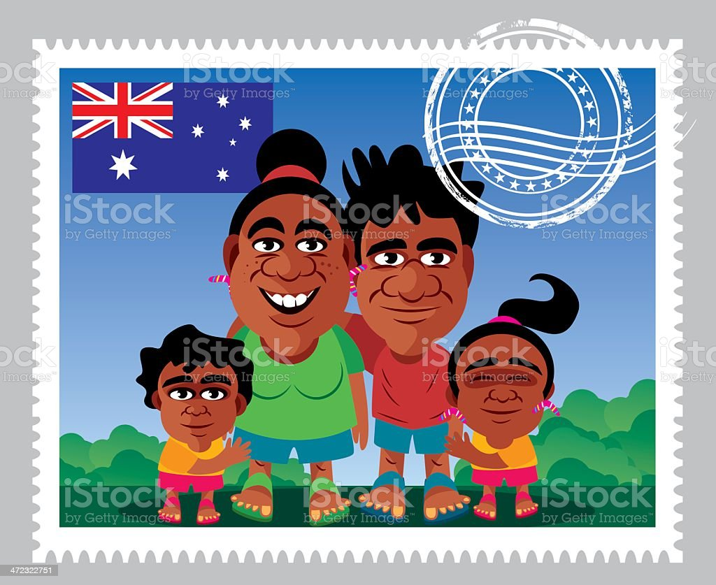 Avustralia Stamp royalty-free stock vector art