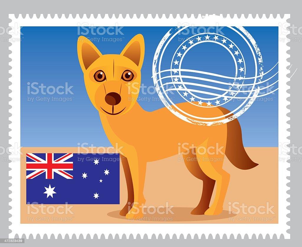 Avustralia Stamp royalty-free stock vector art