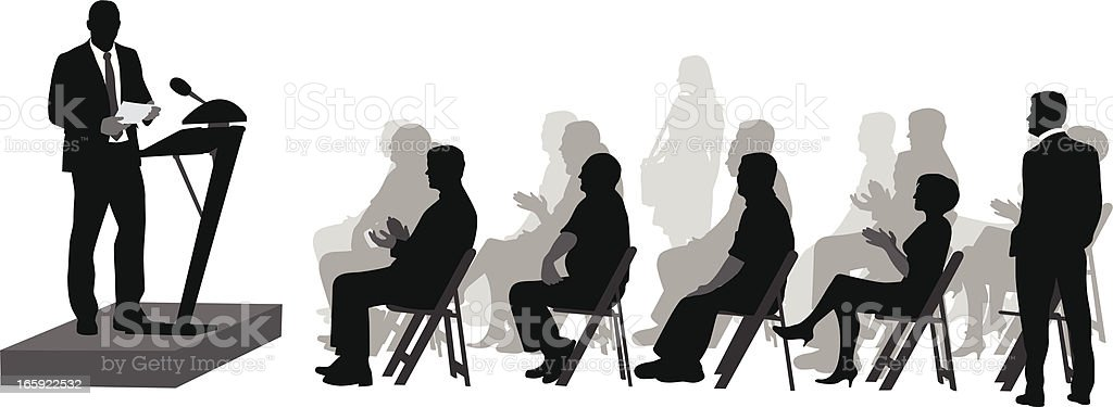 Awaited Speech Vector Silhouette royalty-free stock vector art