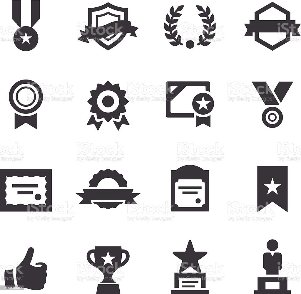 Award and Honor Icons - Acme Series vector art illustration
