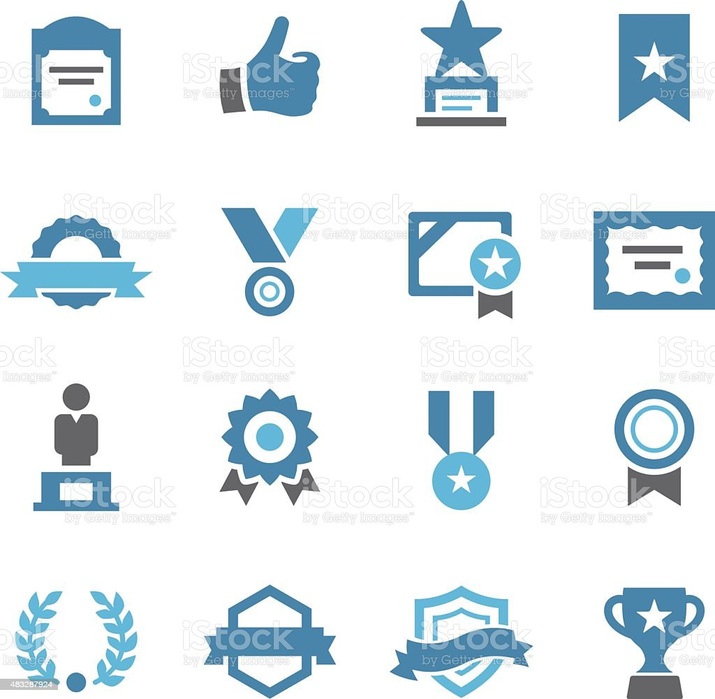 Award and Honor Icons - Conc Series vector art illustration