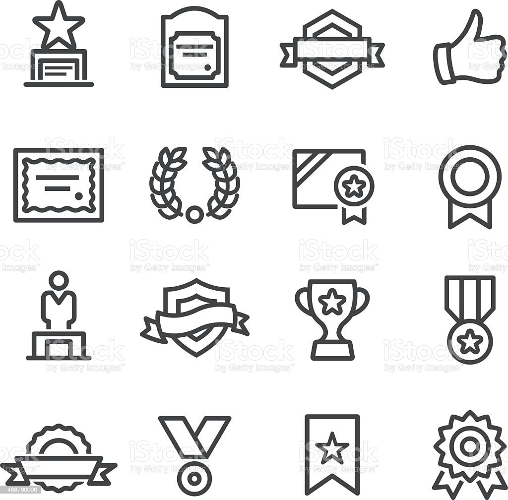 Award and Honor Icons - Line Series vector art illustration