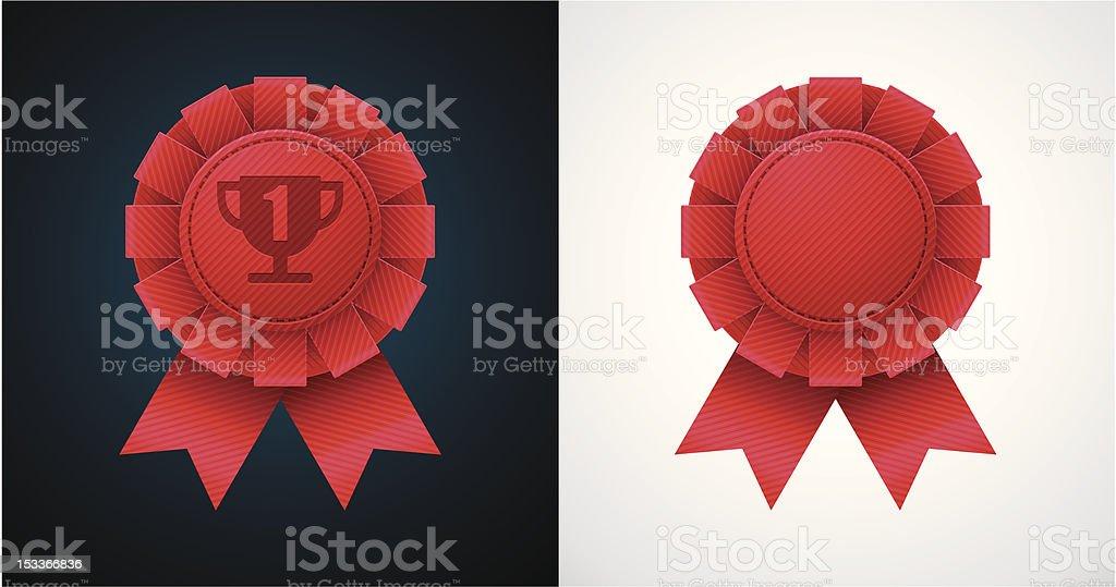 Award badge with ribbon royalty-free stock vector art