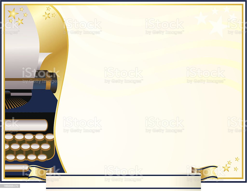 Award Certificate for Writing royalty-free stock vector art