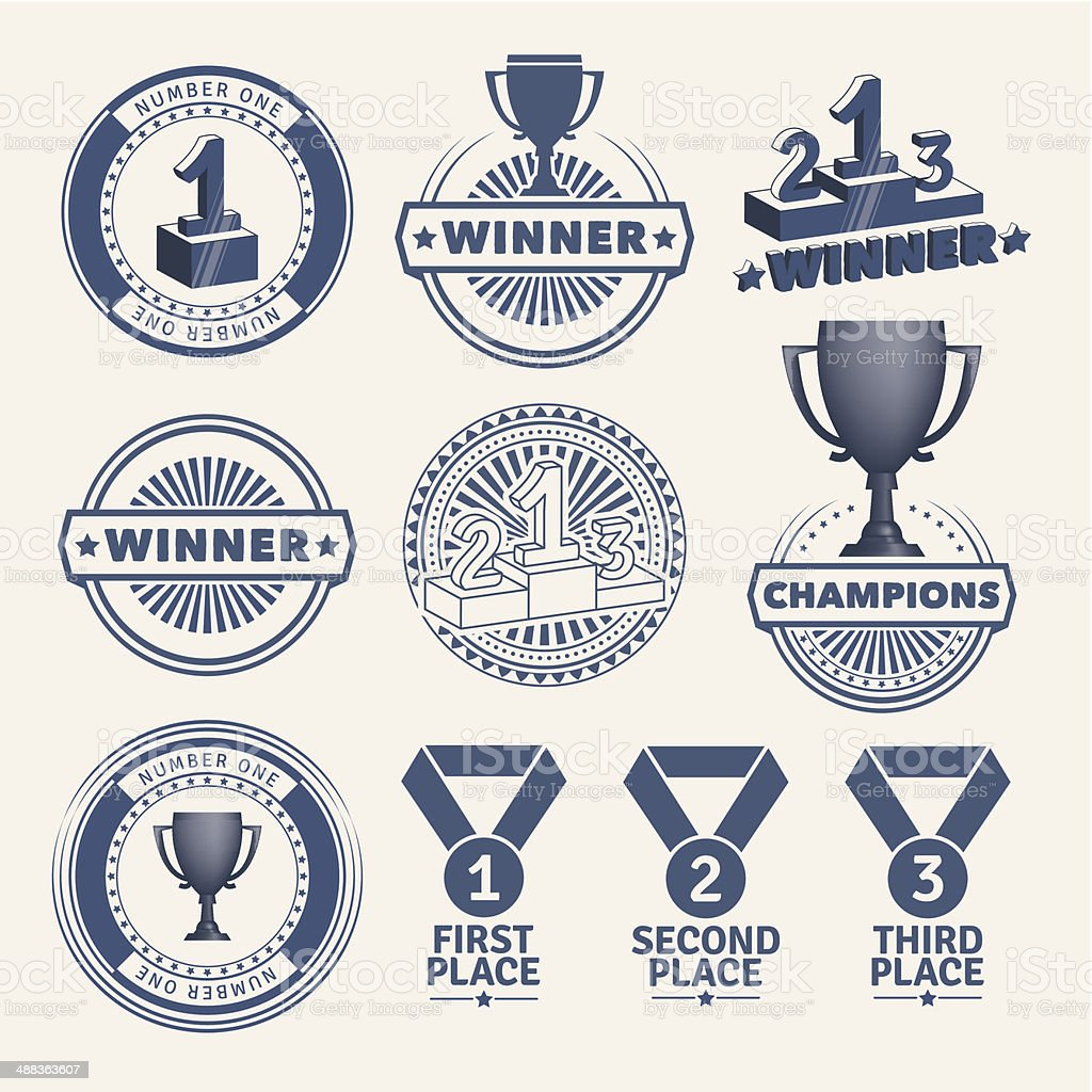 Award design elements vector art illustration