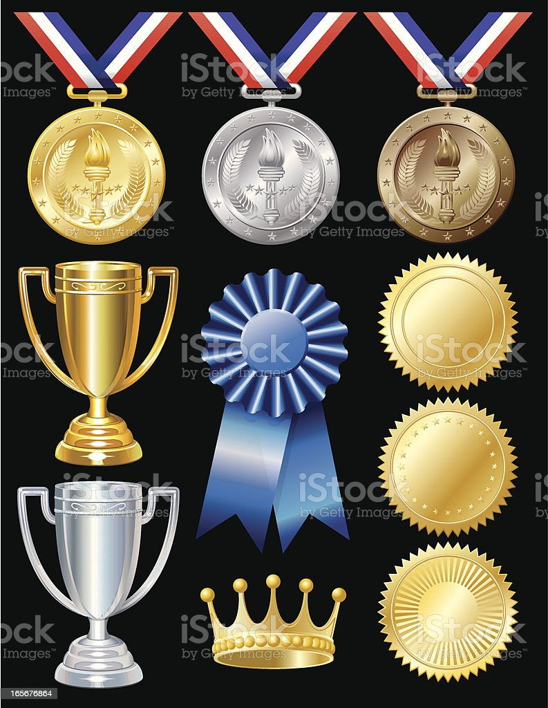 Award Elements vector art illustration