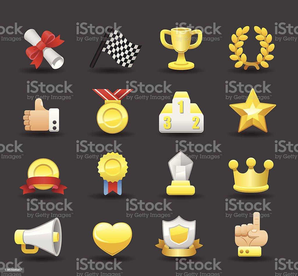 Award icon set royalty-free stock vector art