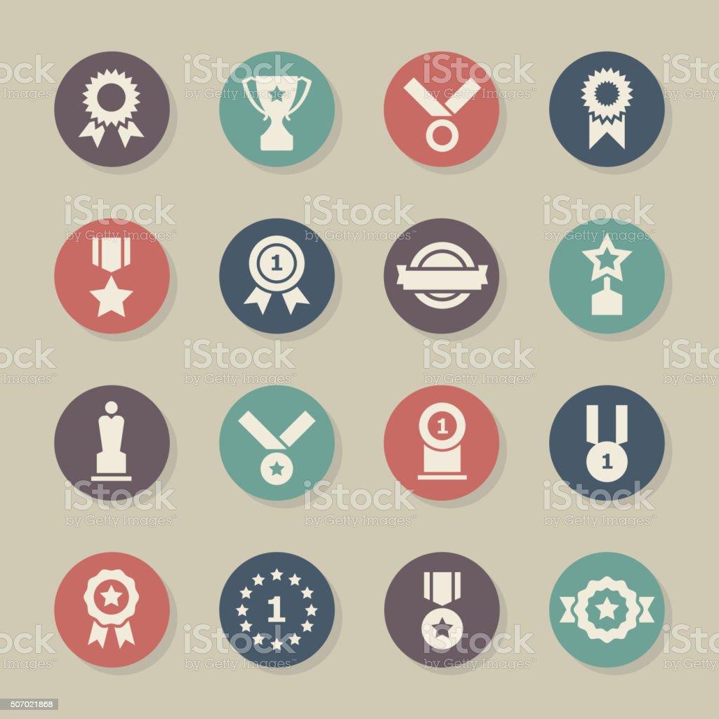 Award Icons - Color Circle Series vector art illustration