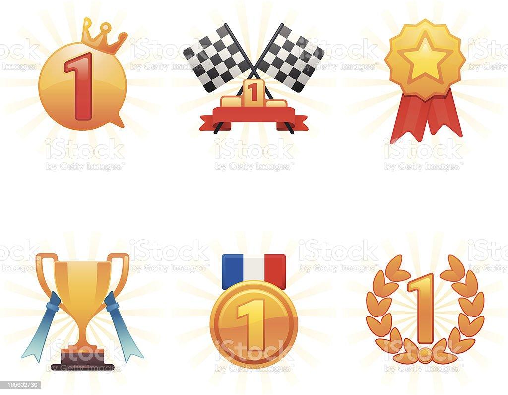 Award Icons royalty-free stock vector art