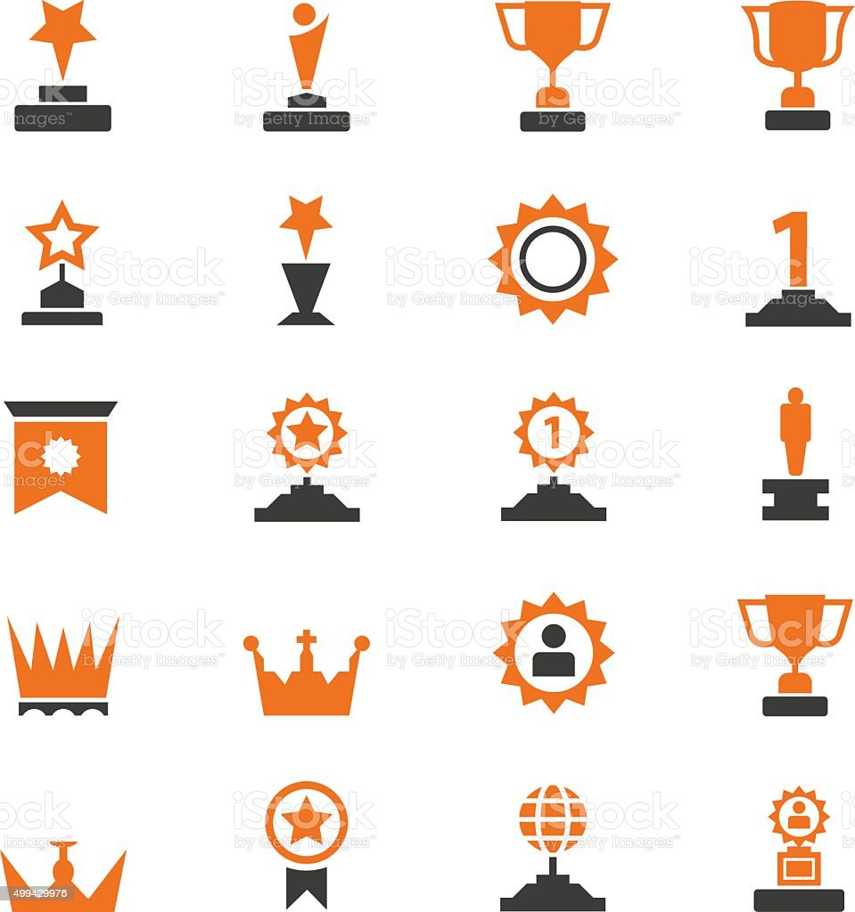 Award icons vector art illustration