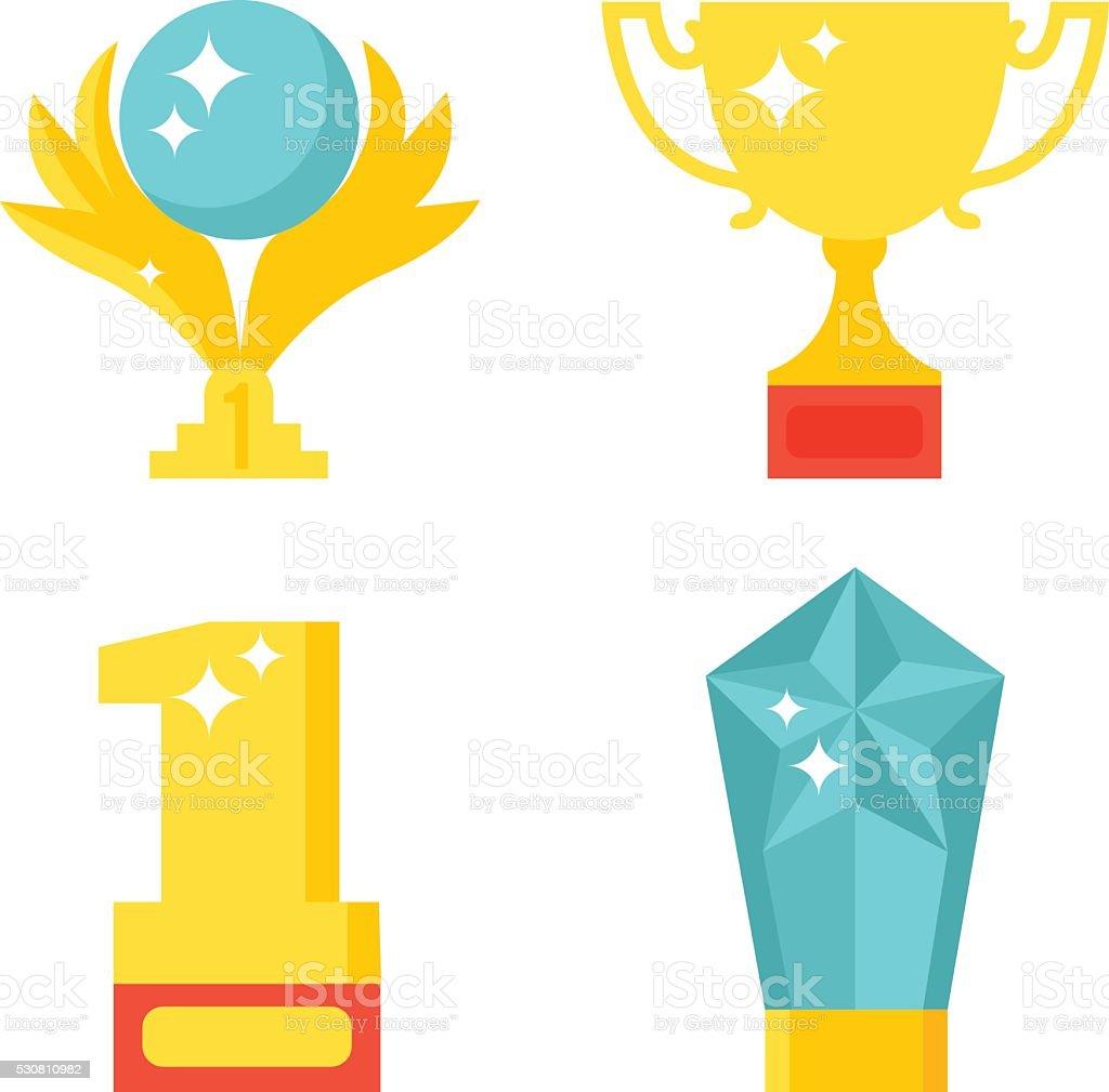 Award icons vector illustration vector art illustration