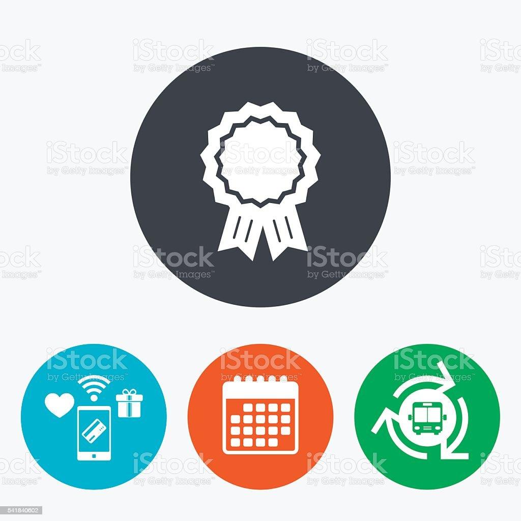 Award medal icon. Best guarantee symbol. vector art illustration