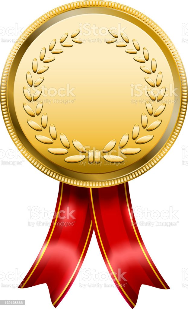 Award Medal Rosette Label royalty-free stock vector art