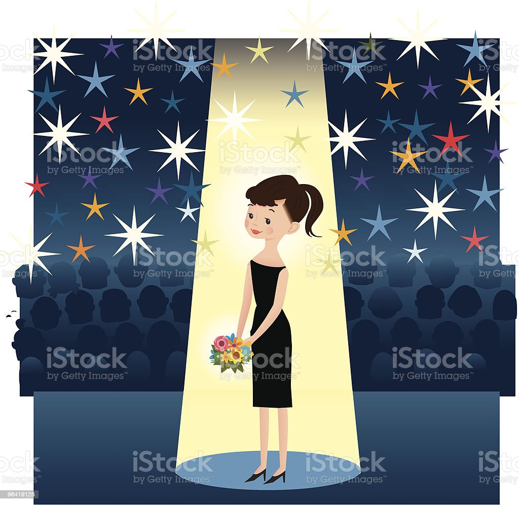 Award Night Girl royalty-free stock vector art