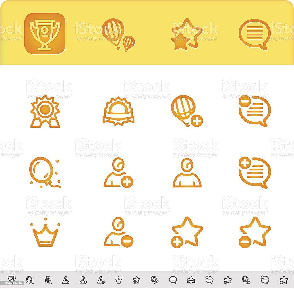 award or rating icons set royalty-free stock vector art