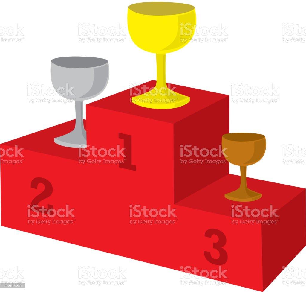 Award podium vector art illustration