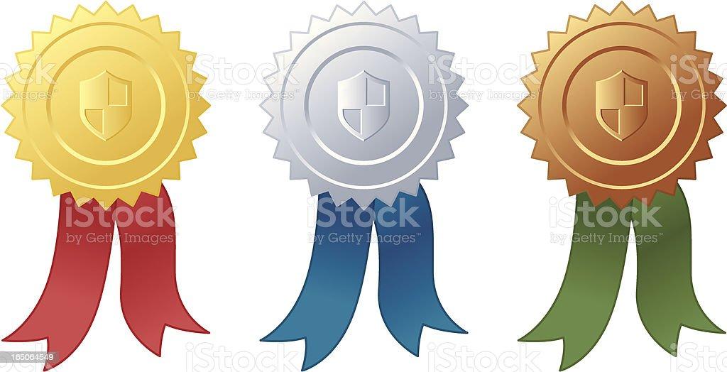 Award Ribbons - incl. jpeg royalty-free stock vector art