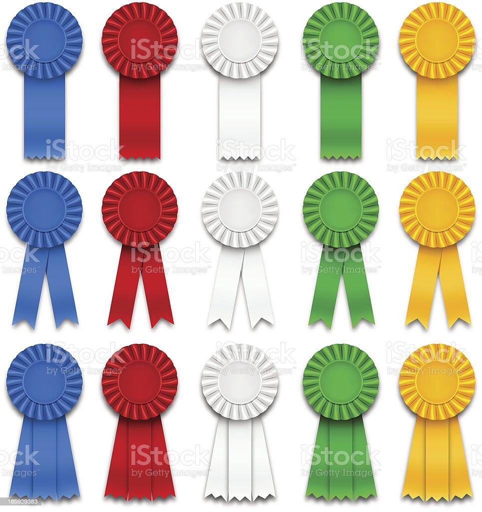 Award Ribbons royalty-free stock vector art