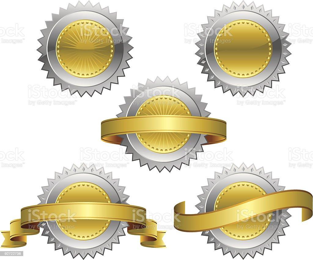Award Rosette Medal royalty-free stock vector art