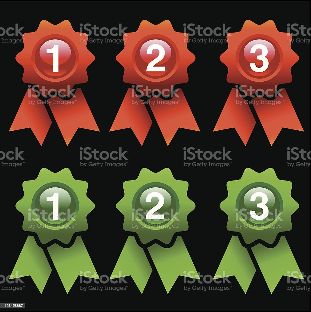 award rosettes royalty-free stock vector art