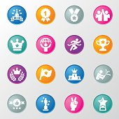 Award  Success Circle Colours Icons